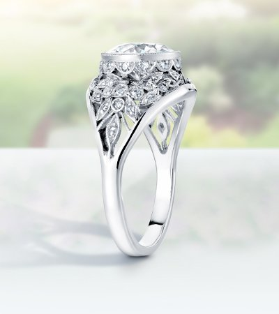 across Wedding Rings